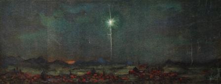 Laatste schilderij van Betzy Akersloot voor haar overlijden in 1922. titel is Ik ben de blinkende morgenster