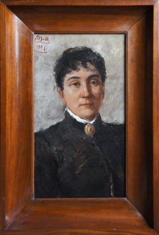 Portret van Betzy Berg op 37 jarige leeftijd, geschilderd door Sientje Mesdag-van Houten